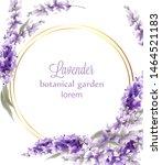 lavender gold wreath card... | Shutterstock .eps vector #1464521183