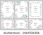 flower vector card. template.... | Shutterstock .eps vector #1464536306