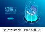 cyber security concept banner... | Shutterstock .eps vector #1464538703