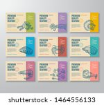 premium quality seafood labels... | Shutterstock .eps vector #1464556133