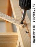 electric screwdriver twists... | Shutterstock . vector #1464562376