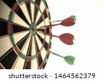 close up dart board with a red... | Shutterstock . vector #1464562379
