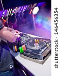 dj with his hands on the... | Shutterstock . vector #146456354