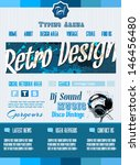 vintage retro page template for ... | Shutterstock .eps vector #146456480