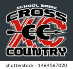 cross country team design with... | Shutterstock .eps vector #1464567020