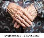aging process   very old senior ... | Shutterstock . vector #146458253