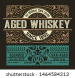 vintage label for packing.... | Shutterstock .eps vector #1464584213
