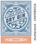 vintage gin label. vector... | Shutterstock .eps vector #1464584216