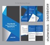 business tri fold brochure ... | Shutterstock .eps vector #1464584549