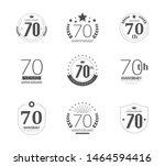 70 years anniversary logo set....   Shutterstock .eps vector #1464594416