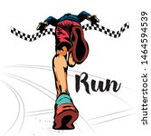 running man  runner sprinter... | Shutterstock .eps vector #1464594539