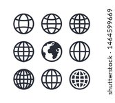 global vector icon set  globe...