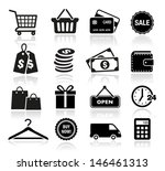 shopping icons | Shutterstock .eps vector #146461313