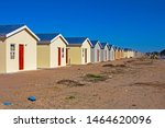 Row of low-cost RDP homes under construction in Western Cape, South Africa