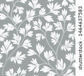 floral leaves seamless pattern. ... | Shutterstock .eps vector #1464637583