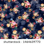 Seamless Watercolor Rose Flowe...