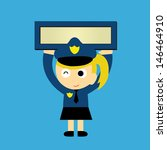 policewoman vector cartoon in... | Shutterstock .eps vector #146464910