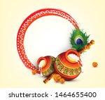 beautiful illustration of dahi... | Shutterstock .eps vector #1464655400