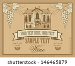 label for wine with an old... | Shutterstock .eps vector #146465879