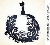 ornamental decorative cat  | Shutterstock .eps vector #146469104