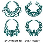retro coats of arms set for... | Shutterstock .eps vector #146470094