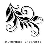 floral embellishment with... | Shutterstock .eps vector #146470556