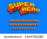 comic game font for posters.... | Shutterstock .eps vector #1464706280