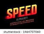 speed style font design ...   Shutterstock .eps vector #1464707060