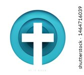 christian cross in minimal... | Shutterstock .eps vector #1464716039