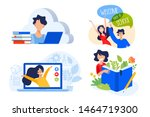 flat design concept of cloud... | Shutterstock .eps vector #1464719300