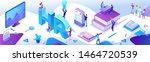 hr department isometric...   Shutterstock .eps vector #1464720539