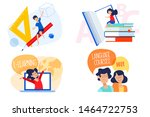 flat design concept of... | Shutterstock .eps vector #1464722753
