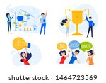 flat design concept of... | Shutterstock .eps vector #1464723569