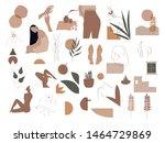 trendy abstract icon set. huge... | Shutterstock .eps vector #1464729869