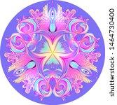 psychedelic mandala. mandala....   Shutterstock .eps vector #1464730400