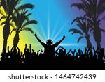 dj on the background of the... | Shutterstock .eps vector #1464742439