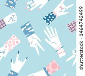 seamless pattern with various... | Shutterstock .eps vector #1464742499