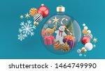 cookies  christmas trees  gift... | Shutterstock . vector #1464749990