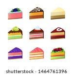 cartoon color sweet cake...