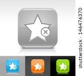 star icon set. blue  orange ...