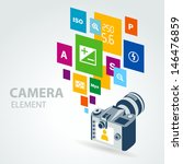 photo camera element icons | Shutterstock .eps vector #146476859