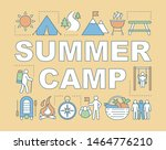 summer camp word concepts...