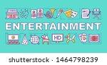 entertainment word concepts...