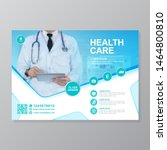 corporate healthcare cover a4...   Shutterstock .eps vector #1464800810