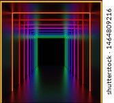 Dark Corridor Illuminated In...