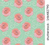 seamless pattern with beautiful ... | Shutterstock .eps vector #146482790