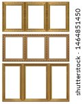 set of triple golden frames ... | Shutterstock . vector #1464851450