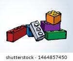 vibrant meccano puzzle kit set... | Shutterstock .eps vector #1464857450