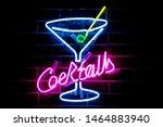 glowing purple neon inscription ... | Shutterstock . vector #1464883940