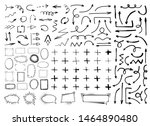 collection of black hand drawn... | Shutterstock .eps vector #1464890480